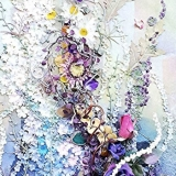 Invitation to the spring〈102 x 47 cm ロッククリスタル、ローズクオーツ、アメジスト、メノウ、パイライト〉