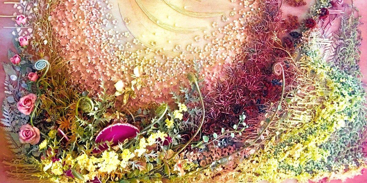 クリアリング ジェム アート ~天然石と花のコラージュ~